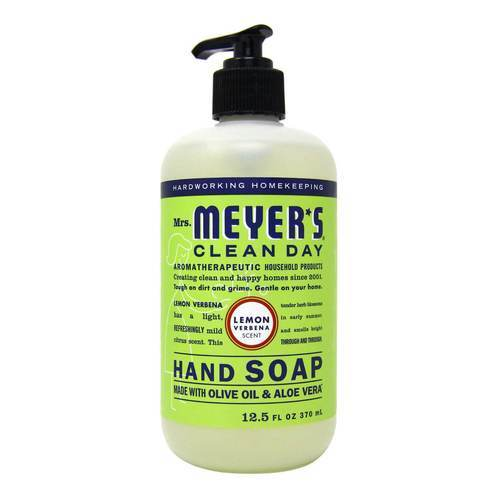 Mrs. Meyers Clean Day Liquid Hand Soap Lemon Verbena - 12.5 fl oz (370 ml) - 65761_front2020.jpg