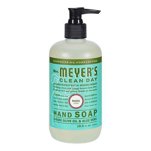 Mrs. Meyers Clean Day Liquid Hand Soap Basil - 12.5 fl oz - 65763_front2020.jpg