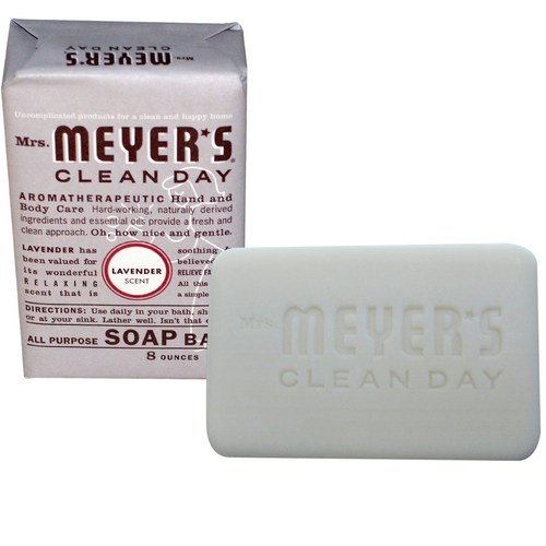 Mrs. Meyers Clean Day Soap Bar Lavender - 8 oz - 65765_1.jpg