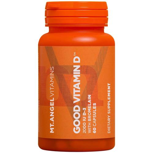 Mt Angel Vitamins Good Vitamina D - 2,000 IU - 60 Cápsulas