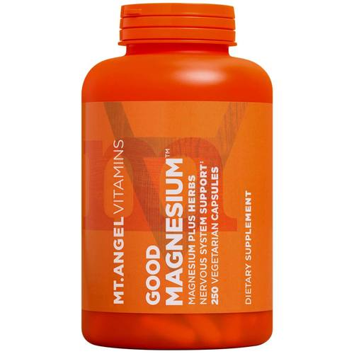 Mt Angel Vitamins, Magnésio 200 mg - 250 Cápsulas Vegetarianas