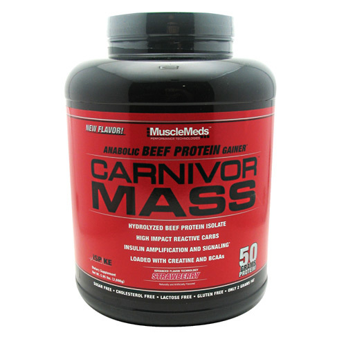 MuscleMeds Carnivor Mass Strawberry - 5.6 lbs