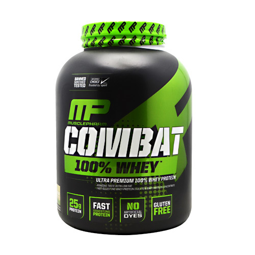 MusclePharm Combat 100% Whey Galletas y crema - 5 lbs