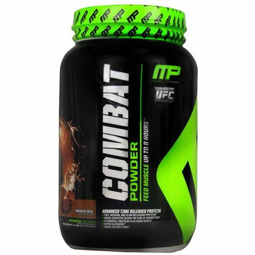 MusclePharm Combat Protein Powder Leche con chocolate - 2 lbs