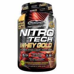 MuscleTech Nitro Tech 100% Whey Gold Bonus Chocolate Caramel Brownie