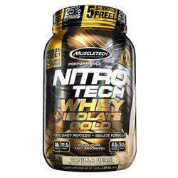 MuscleTech Nitro Tech Whey Plus Isolate Gold