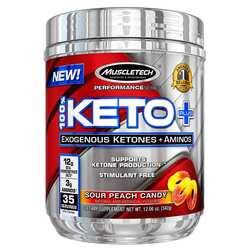 MuscleTech Performance Series 100% Keto Plus Sour Peach Candy