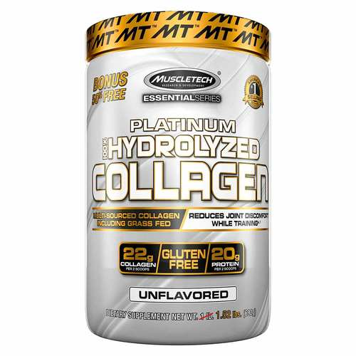 MuscleTech Essential Series Platinum 100% Hydrolyzed Collagen Unflavored - 1.52 lbs  - 352510_front.jpg