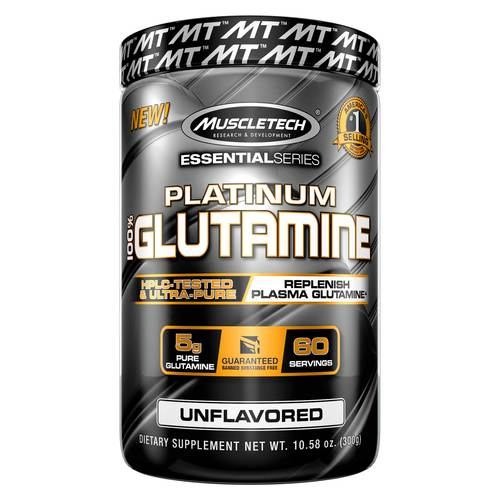 MuscleTech Platinum 100% Glutamine  - 5000 mg - 10.65 oz - 86360_front.jpg