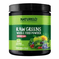 NATURELO Raw Greens Powder Unsweetened 480 g