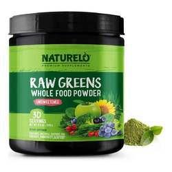NATURELO Raw Greens Powder Unsweetened 480 g