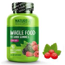 NATURELO Whole Food Vitamin Gummies for Kids