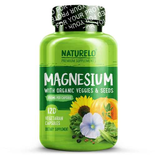 Naturelo Magnesium 200 mg with Organic Veggies and Seeds 120 Vegetarian Capsules - 352712_front.jpg