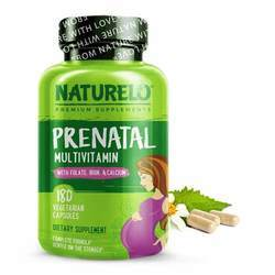 NATURELO Prenatal Whole Food Multivitamin with Natural Iron Folate and Calcium