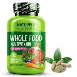 NATURELO Whole Food Multivitamin for Women Iron Free