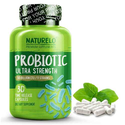 NATURELO Ultra Strength Probiotic One Daily  - 30 Capsules - 352731_front.jpg