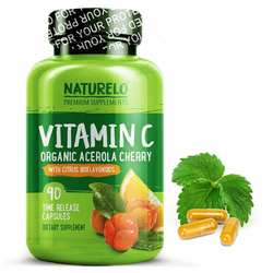 NATURELO Vitamin C with Organic Acerola Cherry