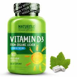 NATURELO Vitamin D3 from Wild-Harvested Lichen 2500IU