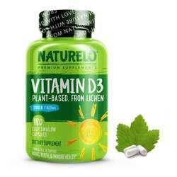 NATURELO Vitamin D3 from Wild-Harvested Lichen 2500IU