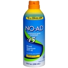 NO-AD Suncare Continuous Spray 防晒, SPF 45 - 10 fl oz