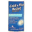 Natra-Bio Cold and Flu Relief - Unflavored - 60 Tablets