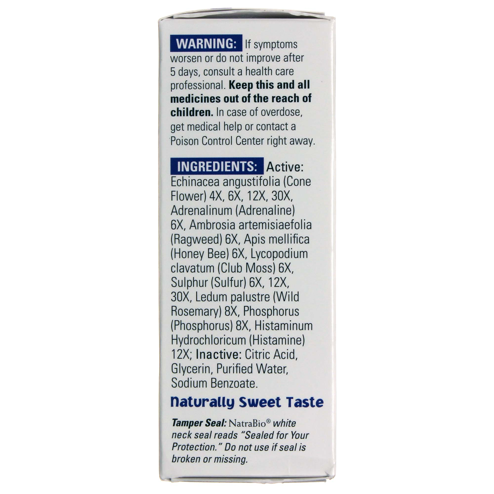 Natra-Bio Children's Allergy Unflavored - 1 fl oz