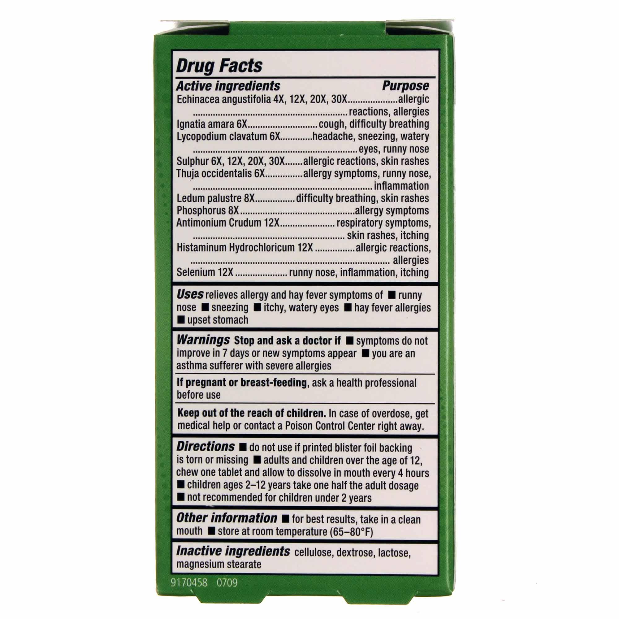 Natra-Bio Allergy Relief - 60 Tablets