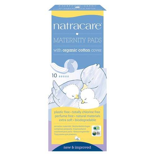 Natracare Maternity Pads             - 10 Pads - 29271_front.jpg