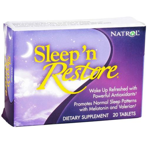 Natrol, Restaurador do Sono - 20 Tabletes - 1233_01.jpg