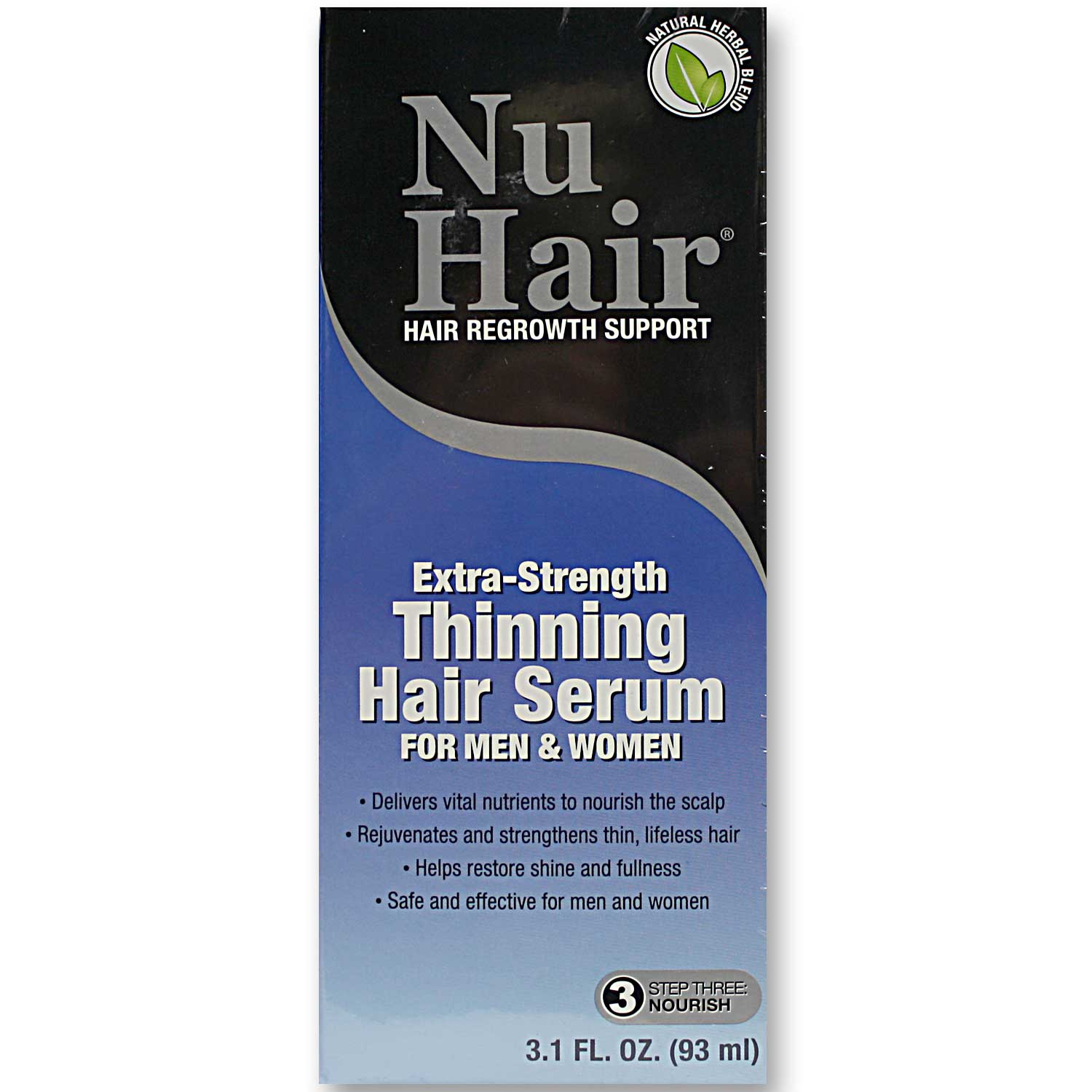 natrol nuhair thinning hair serum - 3.1 fl oz - evitamins