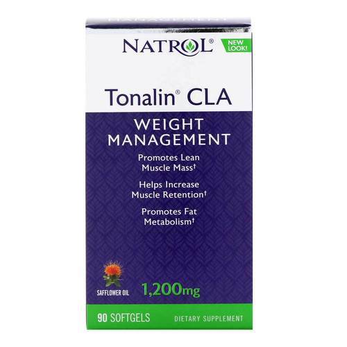 Natrol Tonalin CLA  - 1,200 mg - 90 Softgels - 3390_front2019.jpg