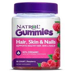 Natrol Hair- Skin and Nails Gummies - Raspberry
