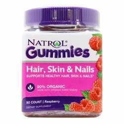 Natrol Hair - Skin and Nails Gummies - Raspberry