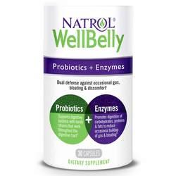 Natrol WellBelly - Probiotics + Enzymes