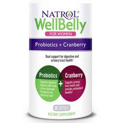 Natrol WellBelly for Women - Probiotics + Cranberry