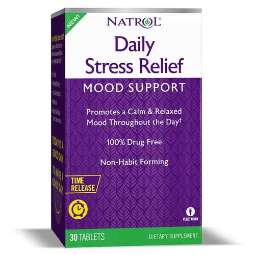 Natrol Daily Stress Relief - Mood Support  - 30 Tablets - 350106_front.jpg
