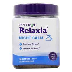 Natrol Relaxia Night Calm Berry