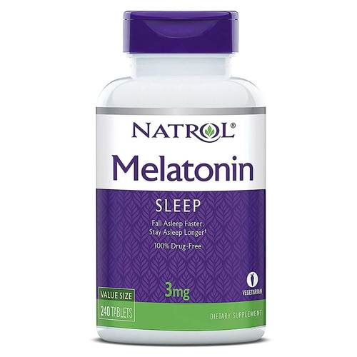 Natrol Melatonin  - 3 mg - 240 Tablets - 3658_front.jpg