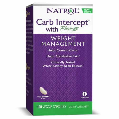 Natrol Carb Intercept with Phase 2  - 120 Capsules - 7019_front.jpg
