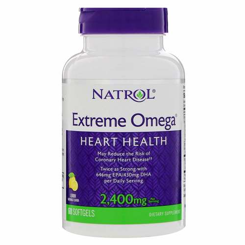 Natrol Extreme Omega Fish Oil - 2400 mg - 60 Softgels - 8806_front.jpg