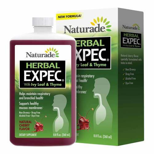 Naturade Herbal Expectorant with Ivy Leaf and Thyme Natural Cherry Flavor  - 8 oz (260 ml) - 7887_front2020.jpg
