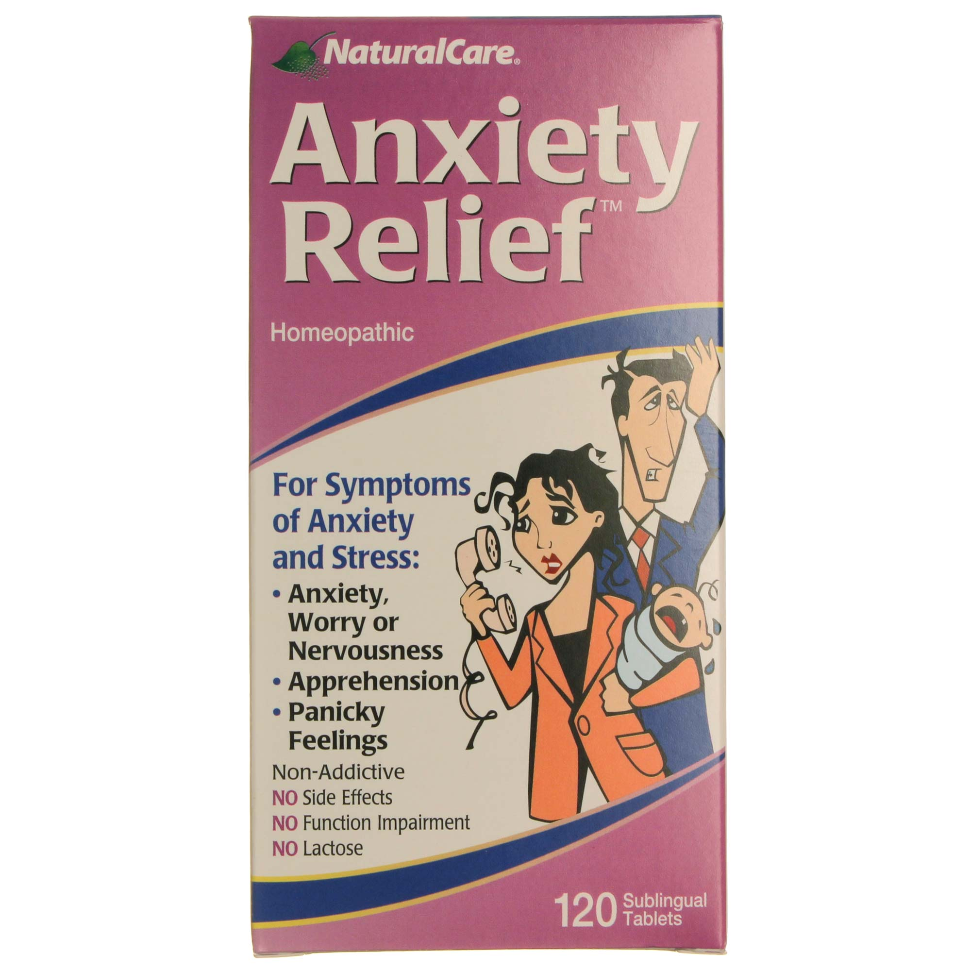 Natural Care Anxiety Relief - 120 Tablets