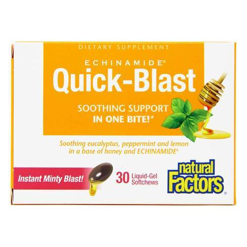 Natural Factors Echimanide Quick-Blast - 30 Chews - 70399_front2019.jpg