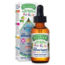 Natural Immunogenics Sovereign Silver Bio-Active Silver Hydrosol For Kids Drops 10 ppm