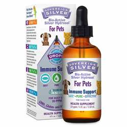 Natural Immunogenics Sovereign Silver Bio-Active Silver Hydrosol For Pets Drops 10 ppm