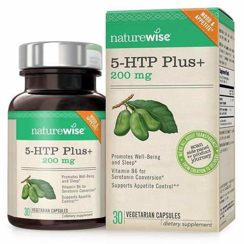 NatureWise 5-HTP Plus+ 200mg  - 30 Capsules - 350668_front.jpg