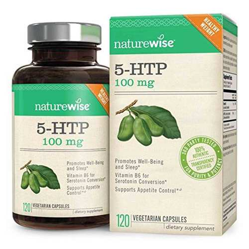 NatureWise 5-HTP 100mg - 120 Capsules - 350670_front.jpg