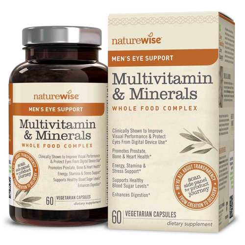 NatureWise Men's Multivitamin Mineral Whole Food Complex with Eye Support - 60 Vegetarian Capsules - 350683_front_ok.jpg