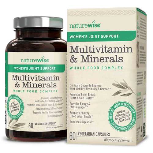 Women's Multivitamin Mineral Whole Food Complex with Joint Support