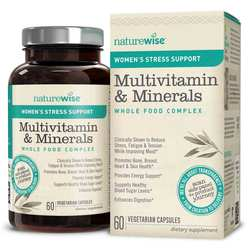 NatureWise Women's Multivitamin Mineral Whole Food Complex with Stress Support
